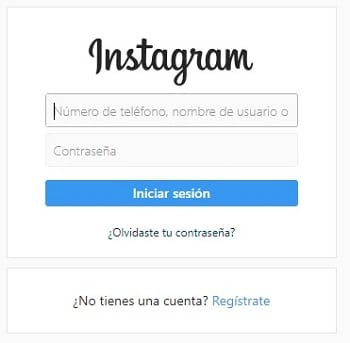 iniciar sesion en instagram